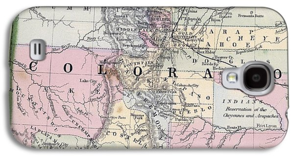 1870 Map Of Colorado Galaxy S4 Case