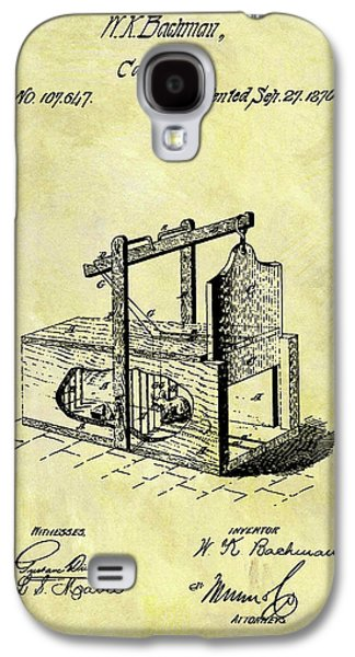 1870 Mousetrap Patent Galaxy S4 Case by Dan Sproul