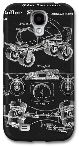 1870 Roller Skate Patent Galaxy S4 Case by Dan Sproul