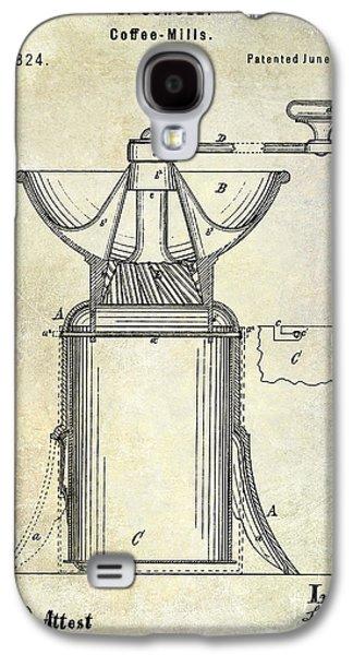 1873 Coffee Mill Patent Galaxy S4 Case