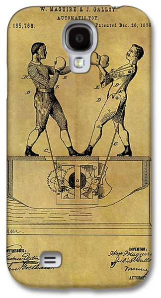 1876 Boxing Toy Patent Galaxy S4 Case by Dan Sproul