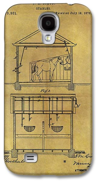 1876 Horse Stable Patent Galaxy S4 Case