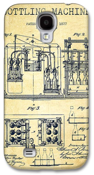 1877 Bottling Machine Patent - Vintage Galaxy S4 Case by Aged Pixel