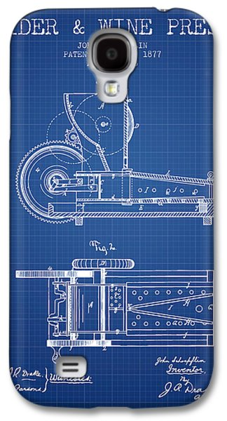 1877 Cider And Wine Press Patent - Blueprint Galaxy S4 Case by Aged Pixel