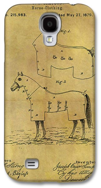1879 Horse Coat Patent Galaxy S4 Case