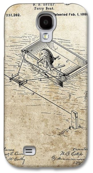 1881 Ferry Boat Patent Galaxy S4 Case by Dan Sproul