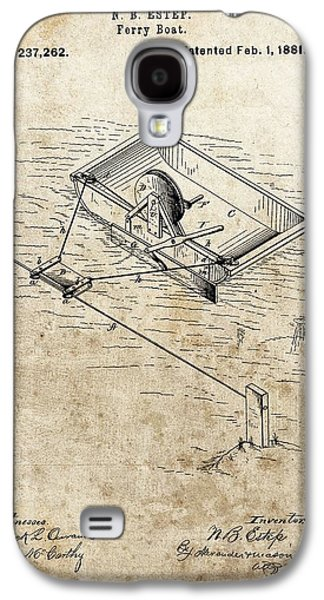 1881 Ferry Boat Patent Galaxy S4 Case