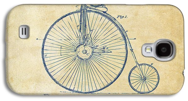 1881 Velocipede Bicycle Patent Artwork - Vintage Galaxy S4 Case by Nikki Marie Smith