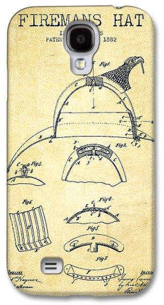 1882 Firemans Hat Patent - Vintage Galaxy S4 Case