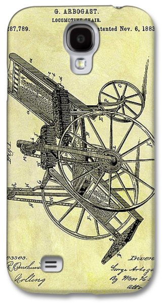 1883 Wheelchair Patent Galaxy S4 Case by Dan Sproul