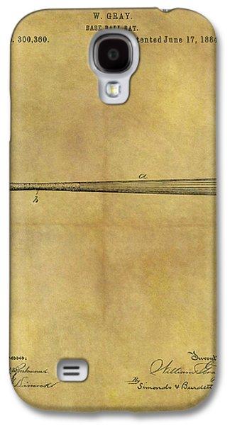 1884 Baseball Bat Illustration Galaxy S4 Case by Dan Sproul