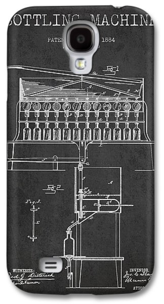 Breweries Galaxy S4 Case - 1884 Bottling Machine Patent - Charcoal by Aged Pixel