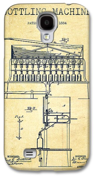 1884 Bottling Machine Patent - Vintage Galaxy S4 Case by Aged Pixel