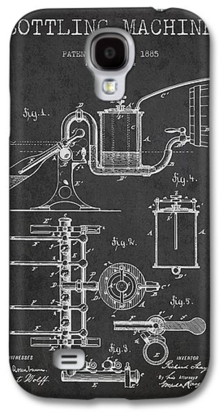 1885 Bottling Machine Patent - Charcoal Galaxy S4 Case by Aged Pixel