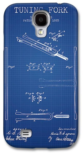 1885 Tuning Fork Patent - Blueprint Galaxy S4 Case