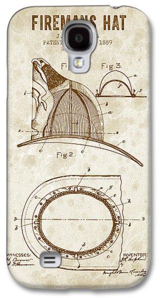 1889 Firemans Hat Patent - Vintage Grunge Galaxy S4 Case