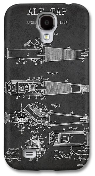 1893 Ale Tap Patent - Charcoal Galaxy S4 Case by Aged Pixel