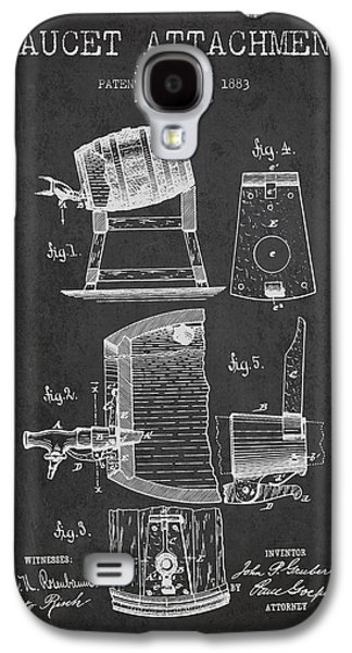 1893 Faucet Attachment Patent - Charcoal Galaxy S4 Case by Aged Pixel