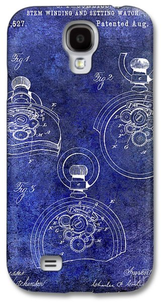 1893 Pocket Watch Patent Blue Galaxy S4 Case