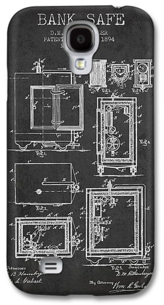 1894 Bank Safe Patent - Charcoal Galaxy S4 Case by Aged Pixel
