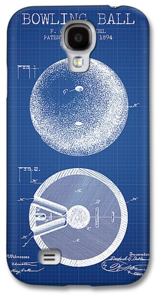 1894 Bowling Ball Patent - Blueprint Galaxy S4 Case by Aged Pixel