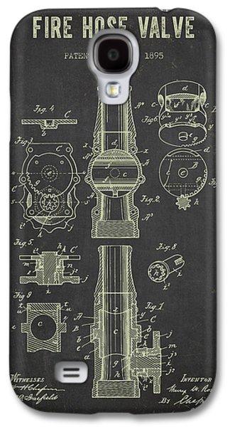 1895 Fire Hose Valve Patent- Dark Grunge Galaxy S4 Case