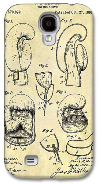 1896 Boxing Gloves Patent Galaxy S4 Case by Dan Sproul