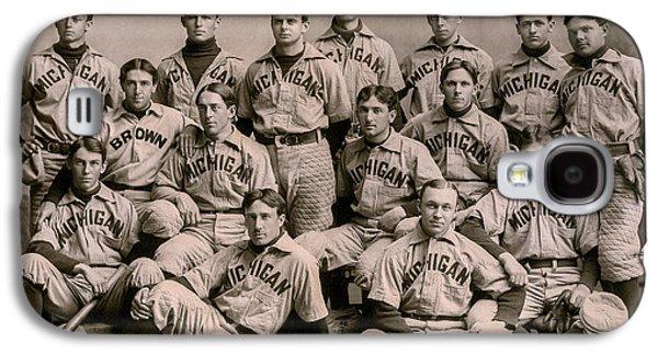 University Of Michigan Galaxy S4 Case - 1896 Michigan Baseball Team by Jon Neidert