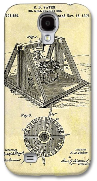 1897 Oil Rig Patent Galaxy S4 Case by Dan Sproul