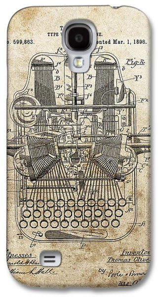1898 Typewriter Patent Galaxy S4 Case by Dan Sproul