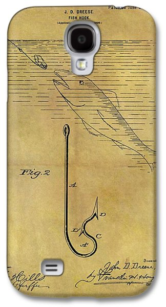 1899 Fish Hook Patent Galaxy S4 Case by Dan Sproul