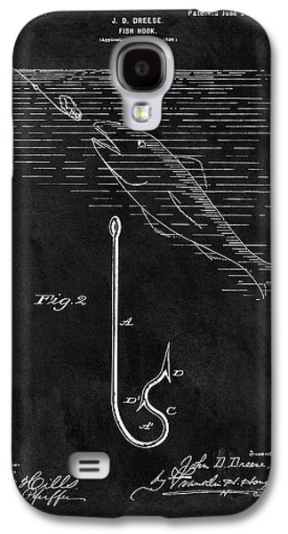 1899 Fishing Hook Patent Galaxy S4 Case by Dan Sproul
