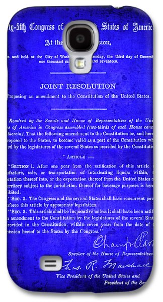 18th Amendment That Launched Prohibition 1917 Galaxy S4 Case by Daniel Hagerman