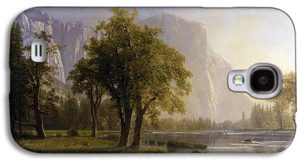 Yosemite Valley Galaxy S4 Case by Albert Bierstadt