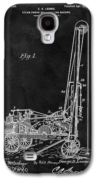 1902 Oil Well Patent Galaxy S4 Case by Dan Sproul