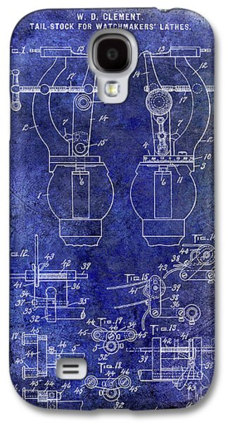 1902 Watchmakers Lathes Patent Blue Galaxy S4 Case