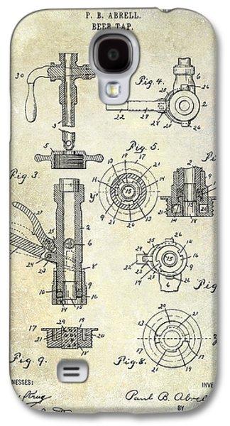 1903 Beer Tap Patent Galaxy S4 Case by Jon Neidert