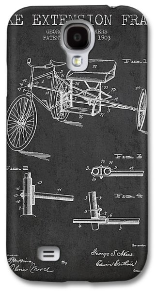 1903 Bike Extension Frame Patent - Charcoal Galaxy S4 Case by Aged Pixel