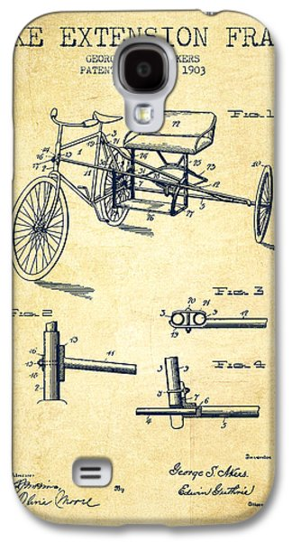 1903 Bike Extension Frame Patent - Vintage Galaxy S4 Case by Aged Pixel