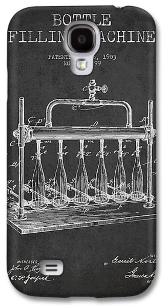 Breweries Galaxy S4 Case - 1903 Bottle Filling Machine Patent - Charcoal by Aged Pixel