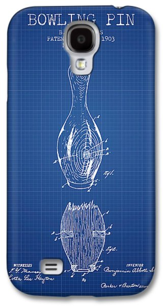 1903 Bowling Pin Patent - Blueprint Galaxy S4 Case by Aged Pixel