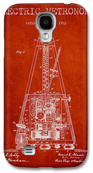 1903 Electric Metronome Patent - Red Galaxy S4 Case
