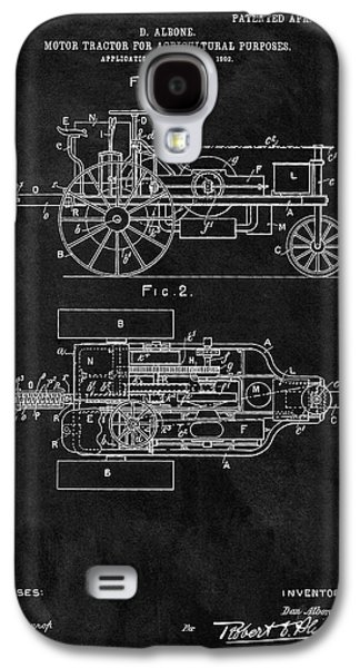 1903 Tractor Blueprint Patent Galaxy S4 Case