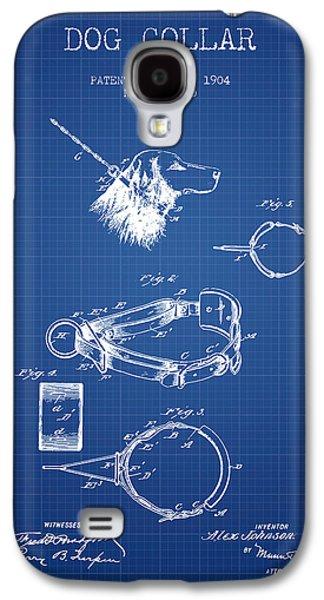 1904 Dog Collar Patent - Blueprint Galaxy S4 Case