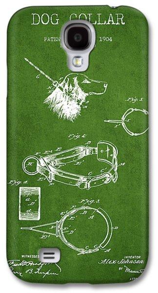 1904 Dog Collar Patent - Green Galaxy S4 Case
