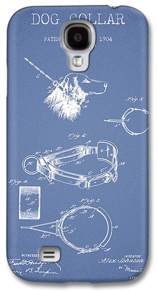 1904 Dog Collar Patent - Light Blue Galaxy S4 Case