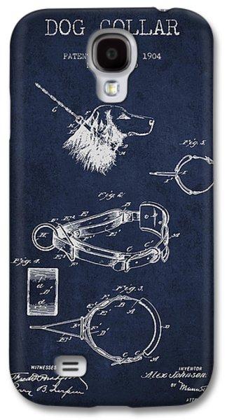 1904 Dog Collar Patent - Navy Blue Galaxy S4 Case