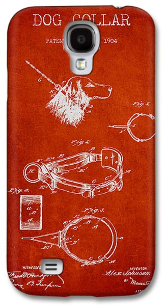 1904 Dog Collar Patent - Red Galaxy S4 Case