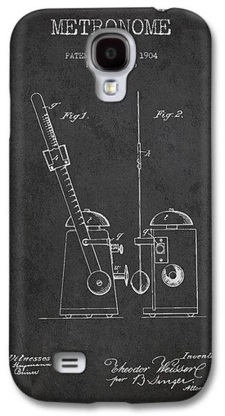 1904 Metronome Patent - Charcoal Galaxy S4 Case