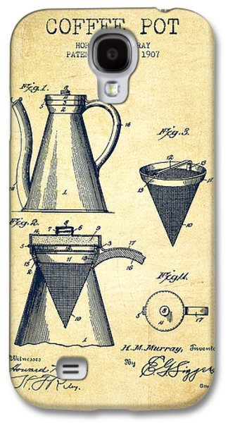1907 Coffee Pot Patent - Vintage Galaxy S4 Case by Aged Pixel